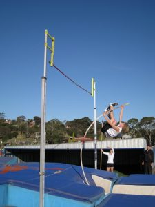 Jack Ingram on the way to 3.65m and victory