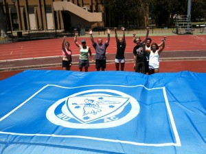 Warren and the gang with the new mats