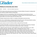 Melbourne University Stars Shine