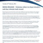 Victorian Mile Championships Media Releases