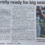 University Ready for Big Season